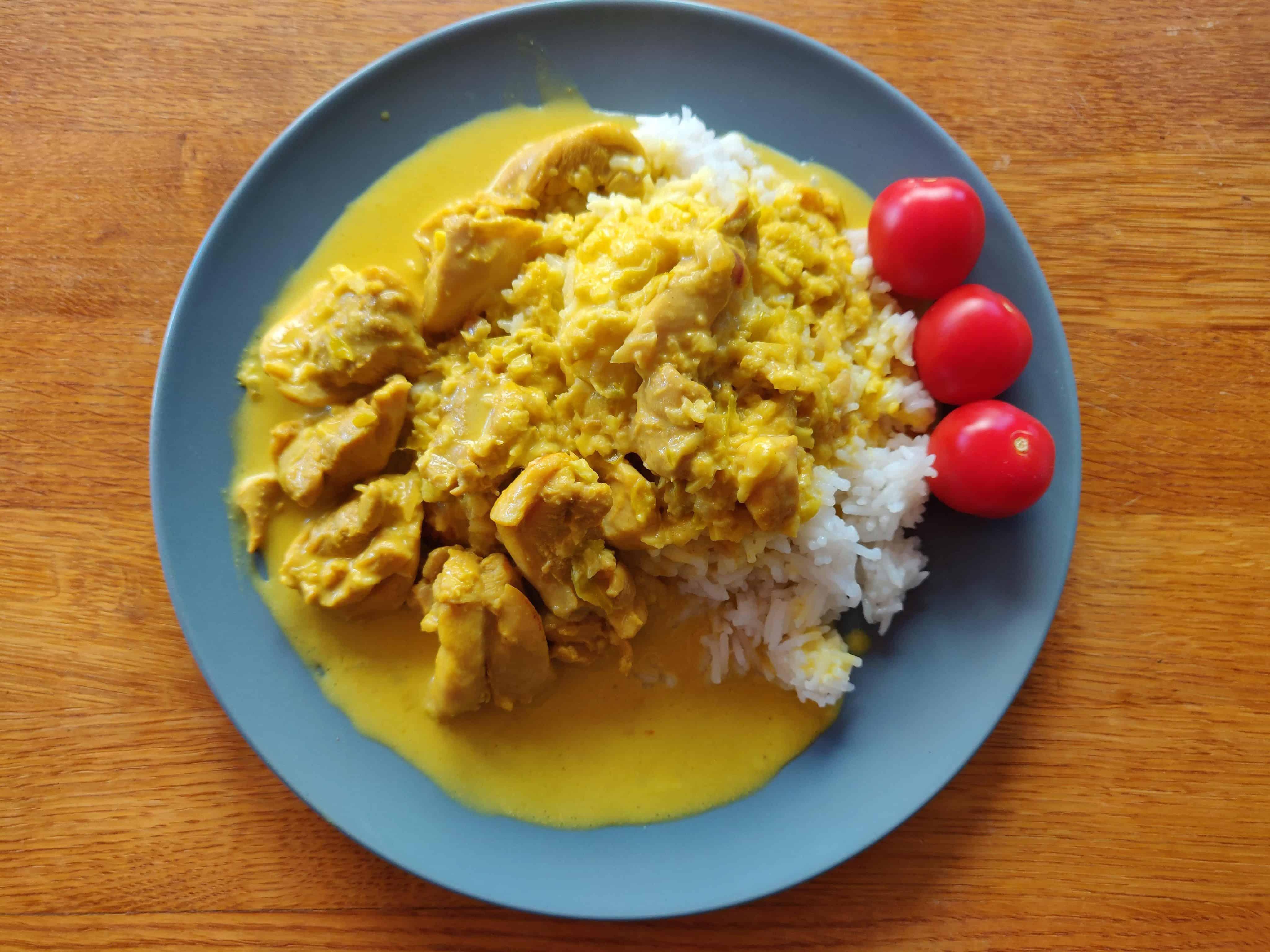 Kyckling i gul curry 1